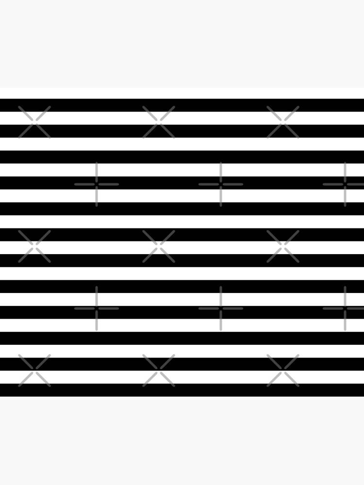 Black and White Big Stripe by MyArt23