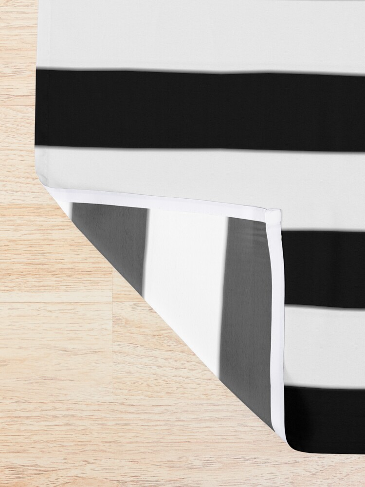 Alternate view of Black and White Big Stripe Shower Curtain