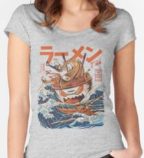 The Great Ramen off Kanagawa Fitted Scoop T-Shirt