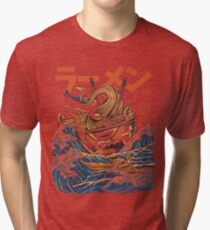 The Great Ramen off Kanagawa Tri-blend T-Shirt