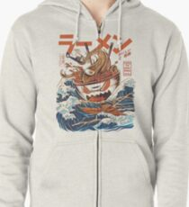 The Great Ramen off Kanagawa Zipped Hoodie