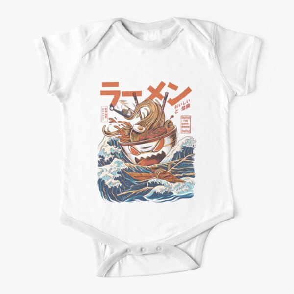The Great Ramen off Kanagawa Short Sleeve Baby One-Piece