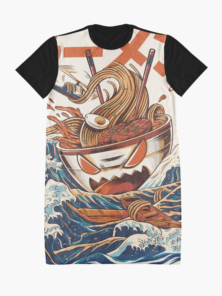 Alternate view of The Great Ramen off Kanagawa Graphic T-Shirt Dress