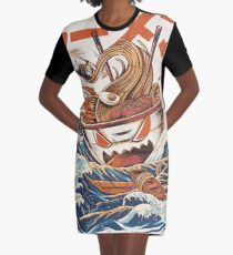 The Great Ramen off Kanagawa Graphic T-Shirt Dress