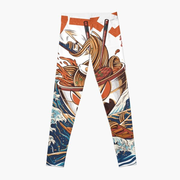 The Great Ramen off Kanagawa Leggings