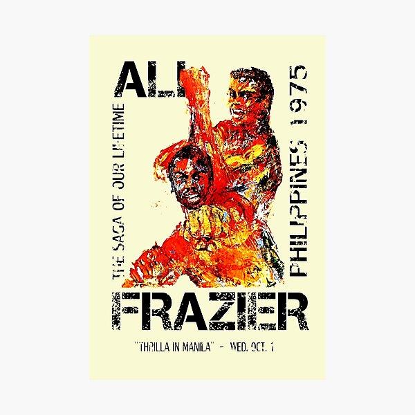 Ali Vs Frazier Poster - Thrilla In Manilla Photographic Print
