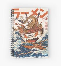 The Great Ramen off Kanagawa Spiral Notebook