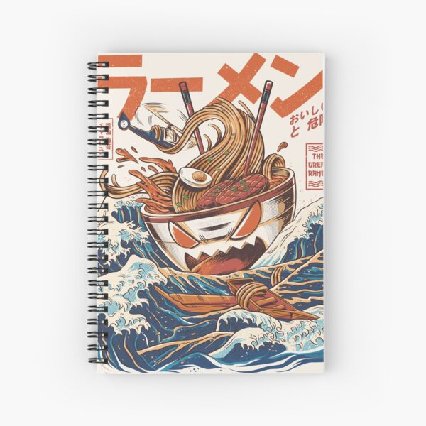 The Great Ramen off Kanagawa Spiral Notebook