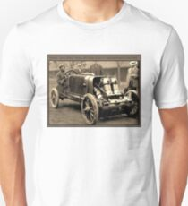 BARNEY OLDFIELD : Vintage Auto Racing Advertising Print T-Shirt