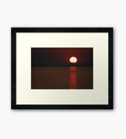 Maroon Sunset Framed Print