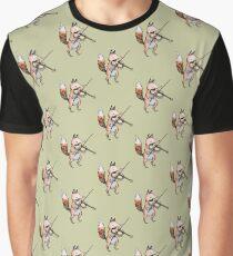 Violin Fox Graphic T-Shirt