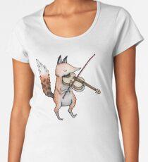 Violin Fox Women's Premium T-Shirt