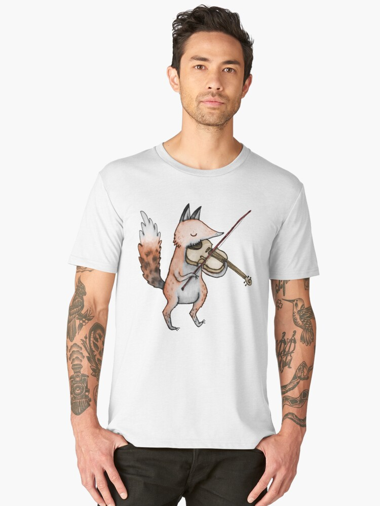 Violin Fox Men's Premium T-Shirt Front