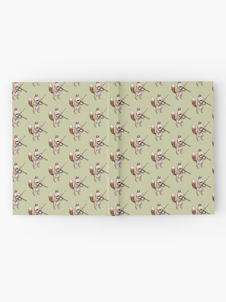 Alternate view of Violin Fox Hardcover Journal