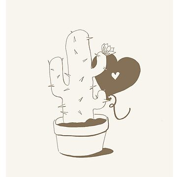 Cactus and Balloon Brown by aevy