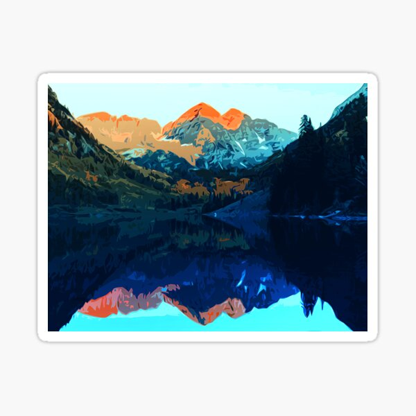 The Wonderful Maroon Bells - Landscapes of USA Sticker