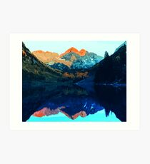 The Wonderful Maroon Bells - Landscapes of USA Art Print