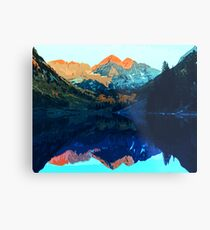 The Wonderful Maroon Bells - Landscapes of USA Metal Print