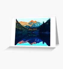 The Wonderful Maroon Bells - Landscapes of USA Greeting Card