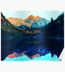 The Wonderful Maroon Bells - Landscapes of USA Poster