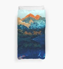 The Wonderful Maroon Bells - Landscapes of USA Duvet Cover