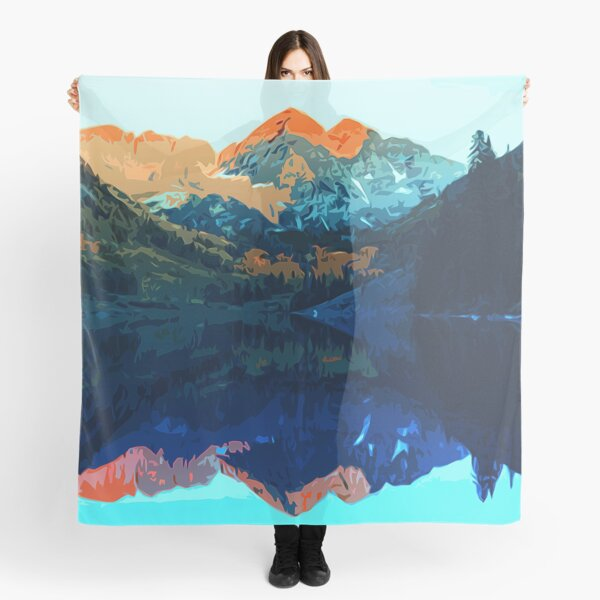 The Wonderful Maroon Bells - Landscapes of USA Scarf