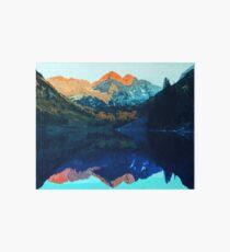 The Wonderful Maroon Bells - Landscapes of USA Art Board Print