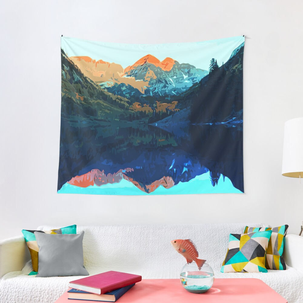 The Wonderful Maroon Bells - Landscapes of USA Tapestry