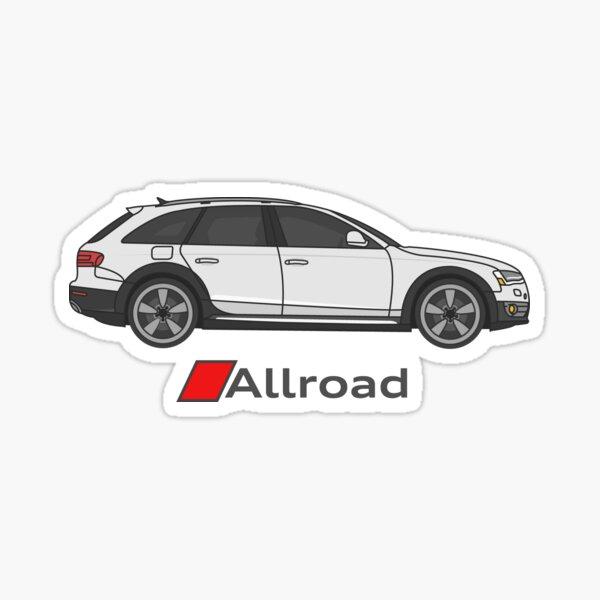 Audi Allroad con bandera Pegatina
