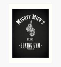 Mighty Micks Boxing Gym Art Print