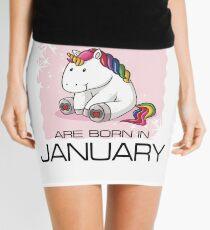 Unicorns are Born in JANUARY T Shirt Unique Unicorn Gift Mini Skirt