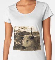 Backlit Longhorn Women's Premium T-Shirt