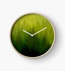 Watercolor Forest Clock