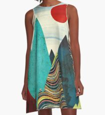 Color Peaks A-Line Dress