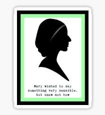 Mary Bennet Sticker