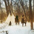 The winter camp - Crow (Apsaroke) Indians by DanKeller