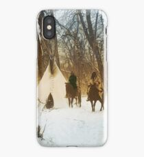The winter camp - Crow (Apsaroke) Indians iPhone Case/Skin