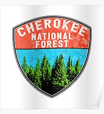 CHEROKEE NATIONAL FOREST TENNESSEE HIKING OUTDOOR NATURE CAMPING Poster