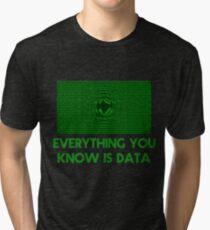 Computer Matrix Data Science Shirt Tri-blend T-Shirt