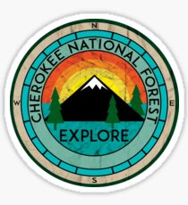 CHEROKEE NATIONAL FOREST TENNESSEE HIKING OUTDOOR NATURE CAMPING 2 Sticker