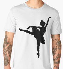 Ballerina silhouette (black) Men's Premium T-Shirt