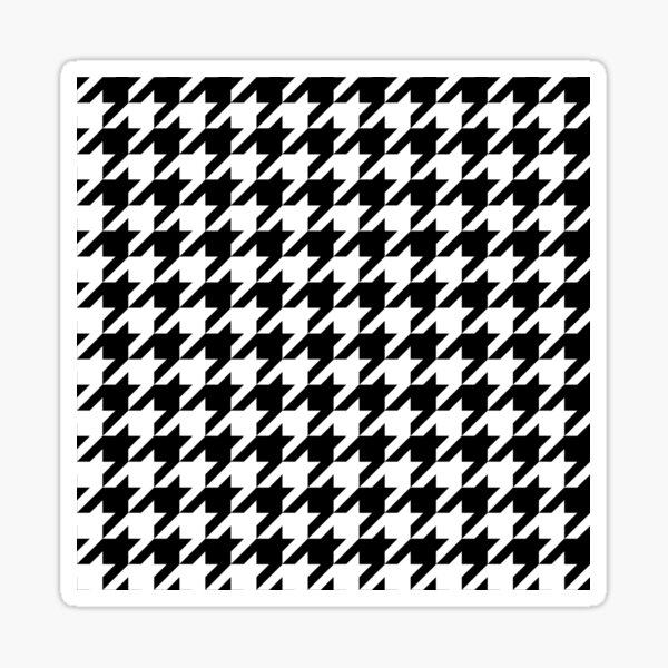 Houndstooth Sticker