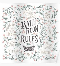 Bathroom Rules 2 Poster