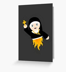 Nun with Superpowers! Greeting Card