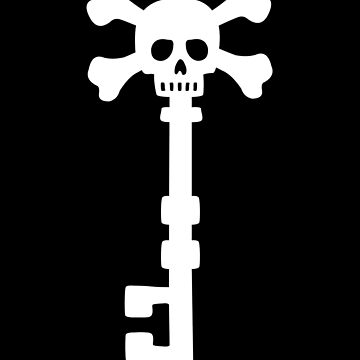 Vintage Skull Key to the Pirate Treasure Chest - White by XOOXOO