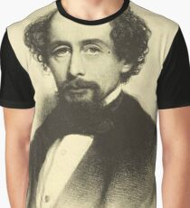 Vintage Charles Dickens Portrait Graphic T-Shirt