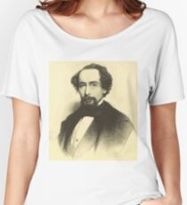 Vintage Charles Dickens Portrait Women's Relaxed Fit T-Shirt