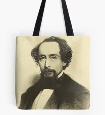 Vintage Charles Dickens Portrait Tote Bag
