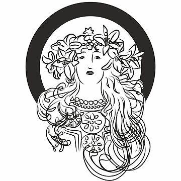 Alphonse Mucha Inspiration by XOOXOO