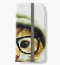 Vintage Cat Wearing Glasses iPhone Wallet/Case/Skin